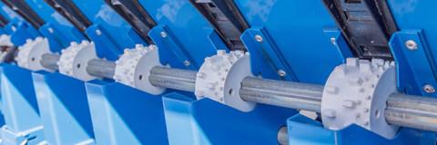 Detaliu cilindri distribuitori seminte dubli semanatori tip SUP